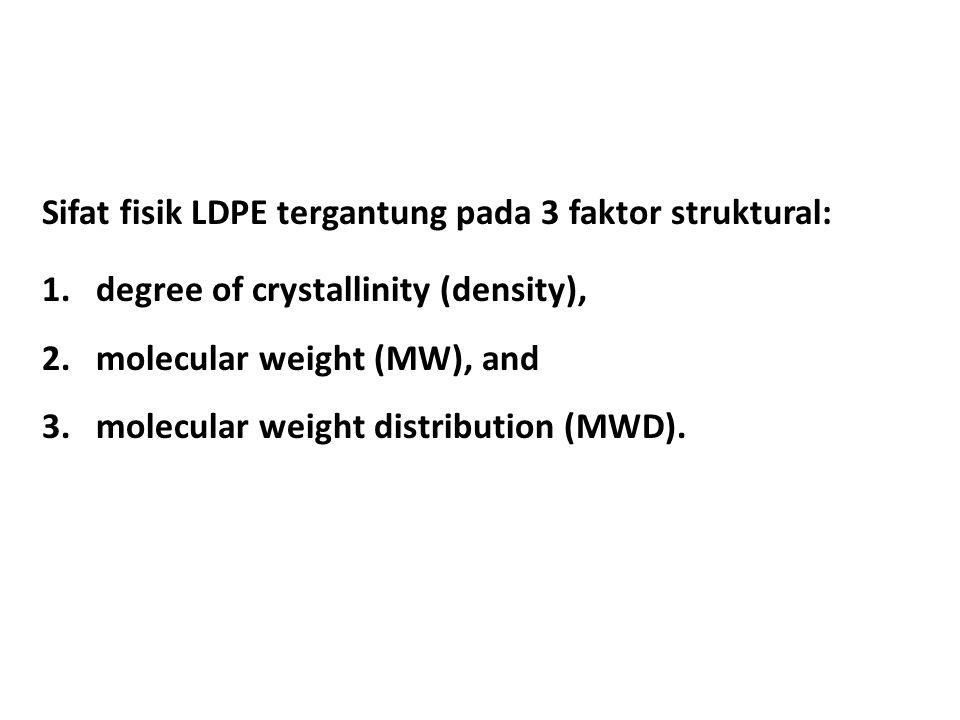 Sifat fisik LDPE tergantung pada 3 faktor struktural:
