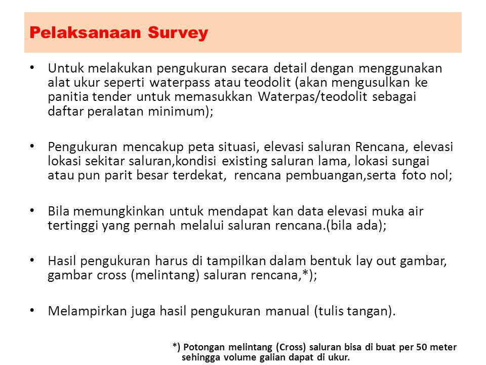 Pelaksanaan Survey