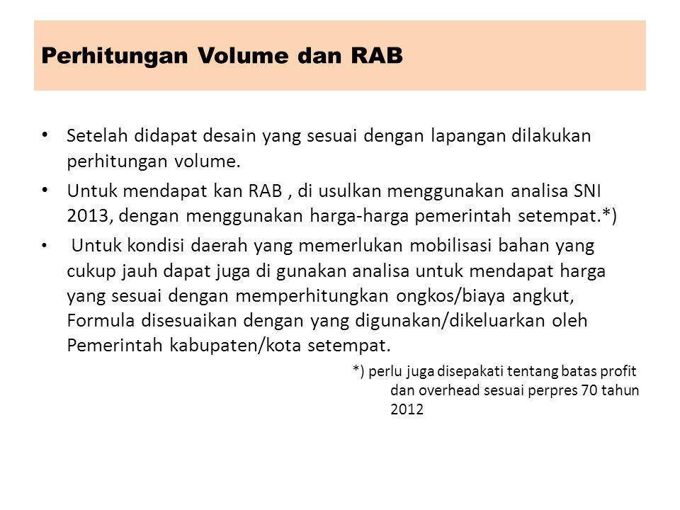 Perhitungan Volume dan RAB