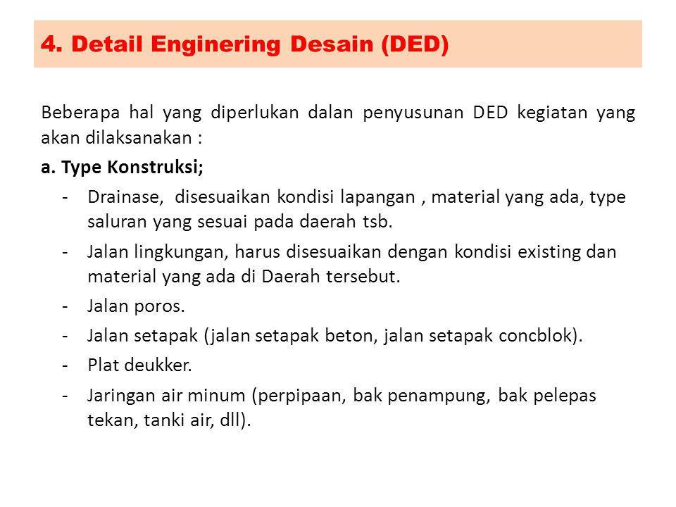 4. Detail Enginering Desain (DED)