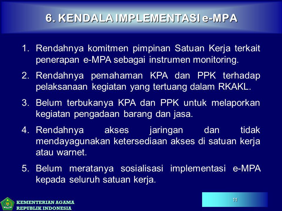 6. KENDALA IMPLEMENTASI e-MPA