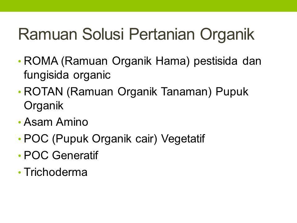 Ramuan Solusi Pertanian Organik