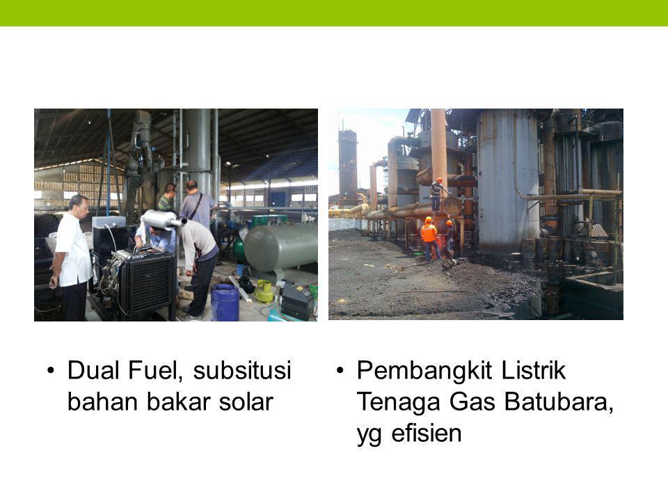 Dual Fuel, subsitusi bahan bakar solar