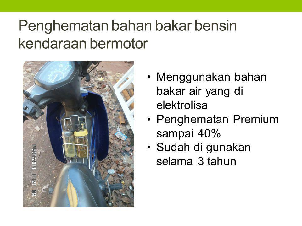 Penghematan bahan bakar bensin kendaraan bermotor
