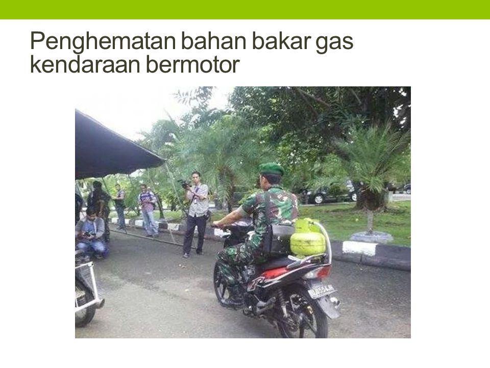 Penghematan bahan bakar gas kendaraan bermotor