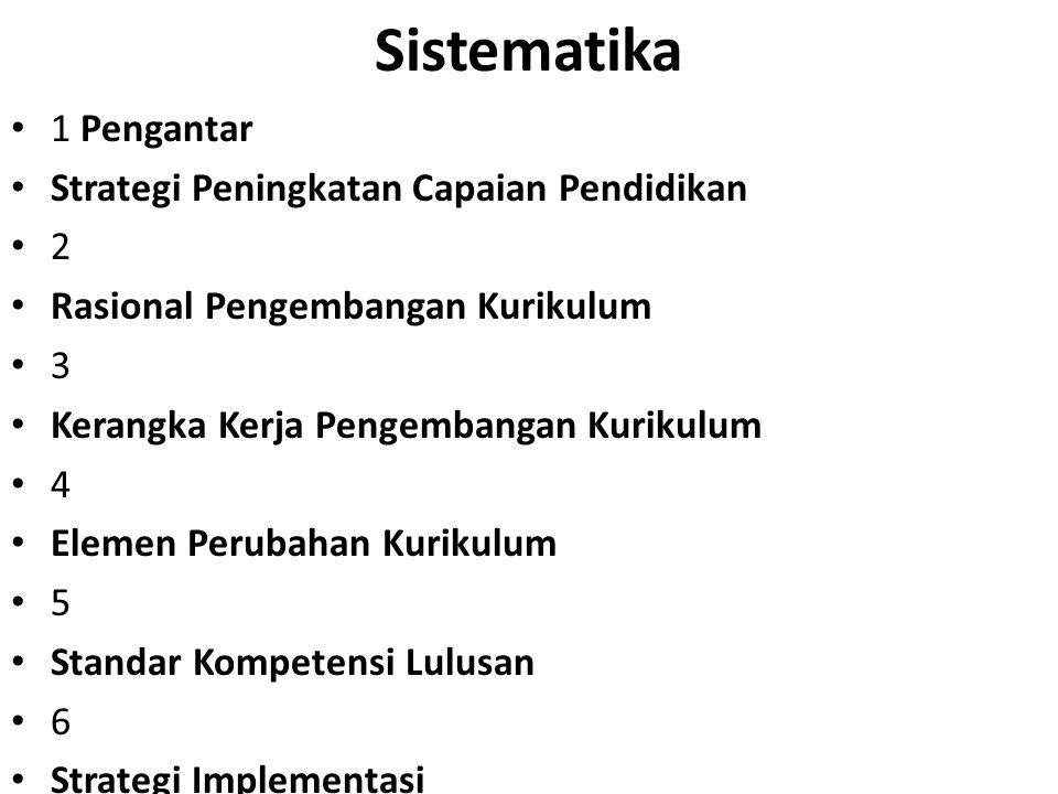 Sistematika 1 Pengantar Strategi Peningkatan Capaian Pendidikan 2