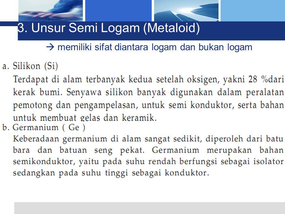 3. Unsur Semi Logam (Metaloid)