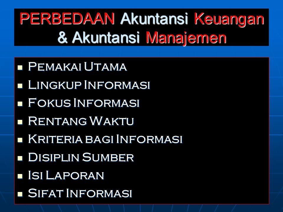 PERBEDAAN Akuntansi Keuangan & Akuntansi Manajemen