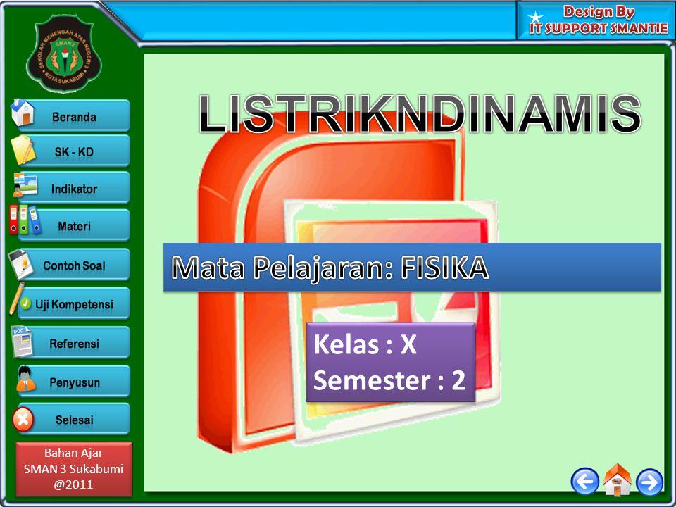 LISTRIKNDINAMIS Mata Pelajaran: FISIKA Kelas : X Semester : 2