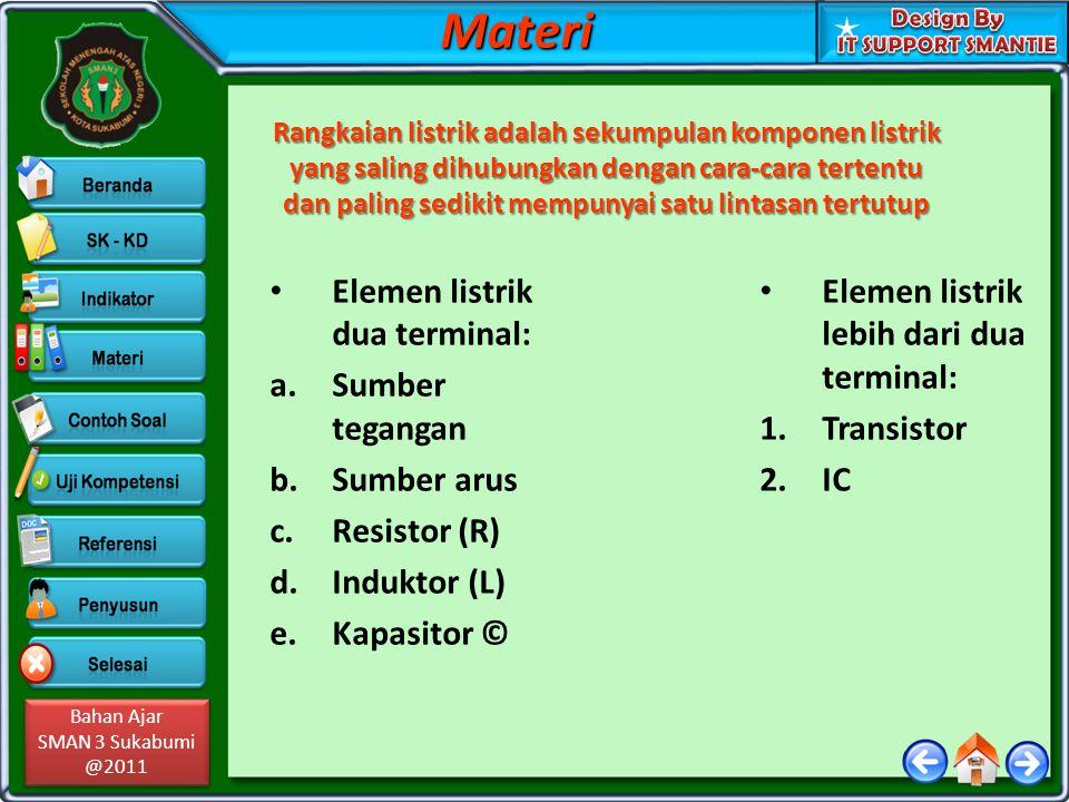 Materi Elemen listrik dua terminal: Sumber tegangan Sumber arus