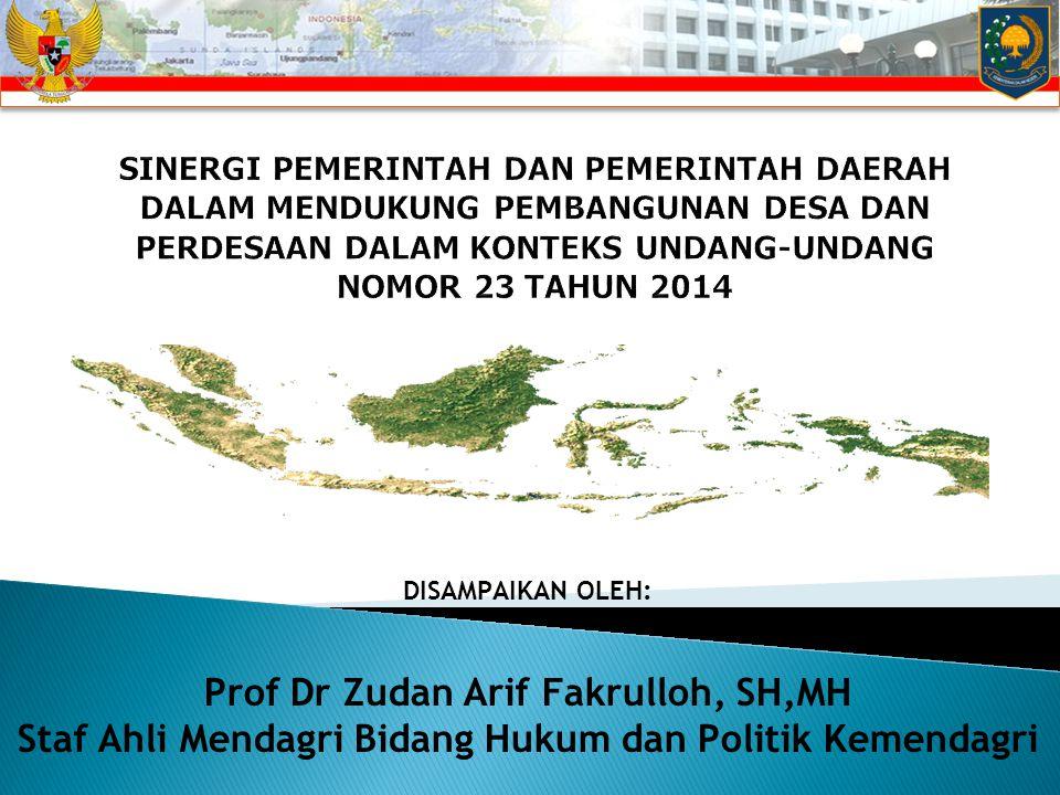 Prof Dr Zudan Arif Fakrulloh, SH,MH