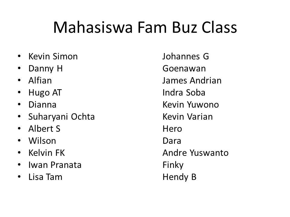 Mahasiswa Fam Buz Class