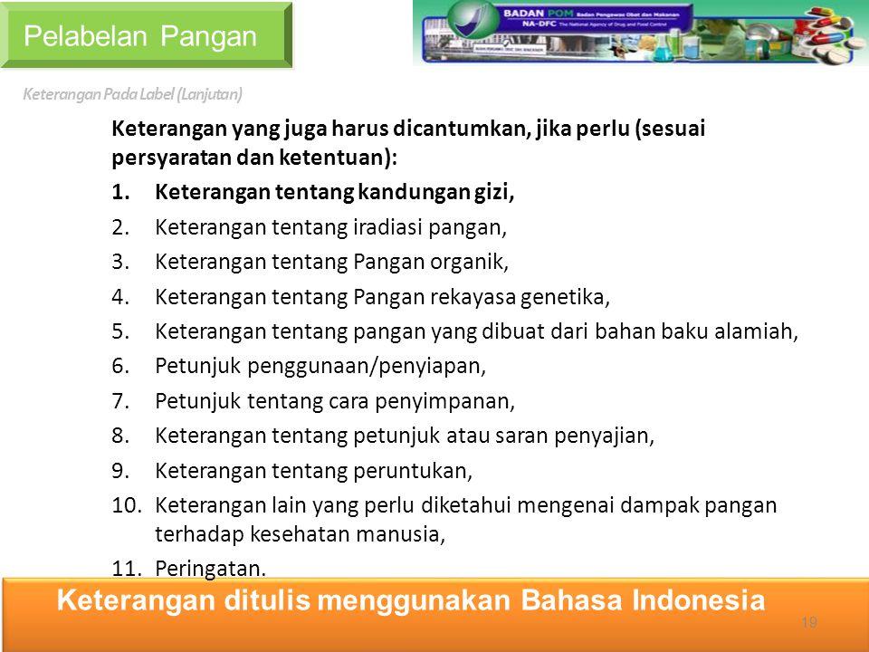 Keterangan ditulis menggunakan Bahasa Indonesia
