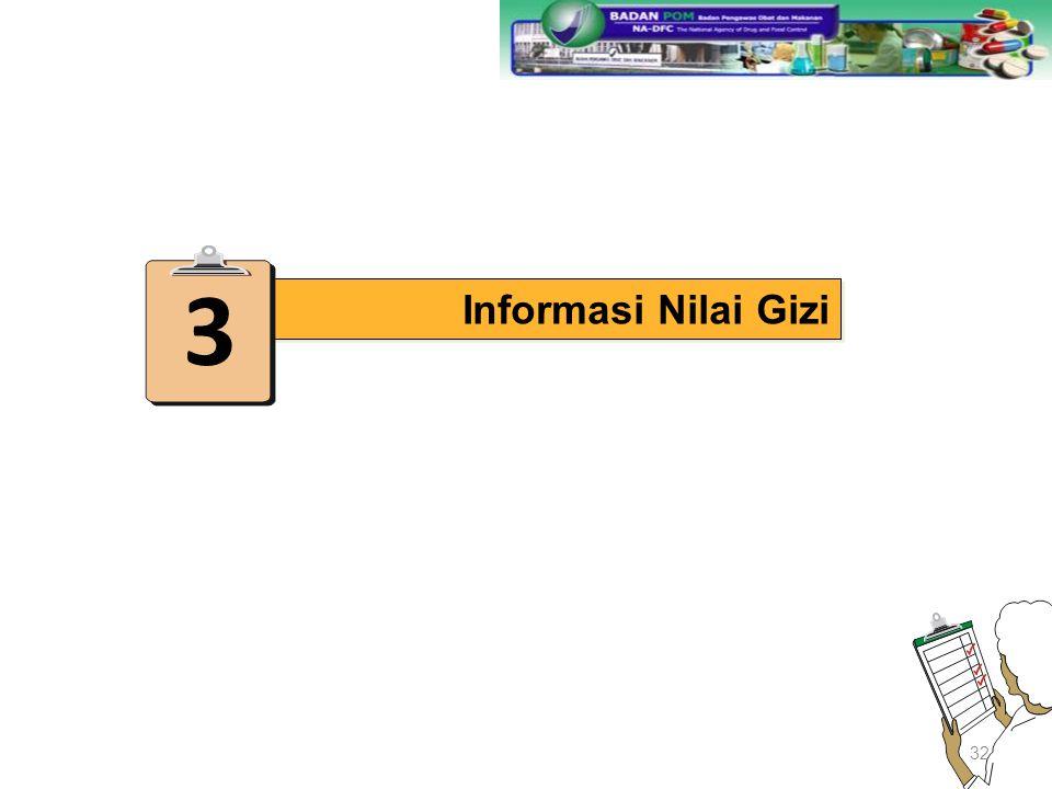 3 Informasi Nilai Gizi