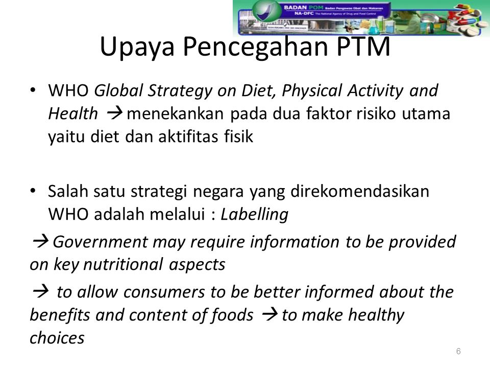 Upaya Pencegahan PTM