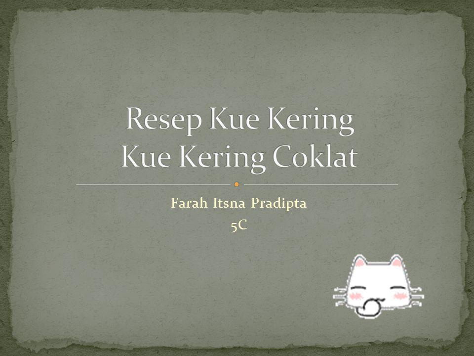 Resep Kue Kering Kue Kering Coklat