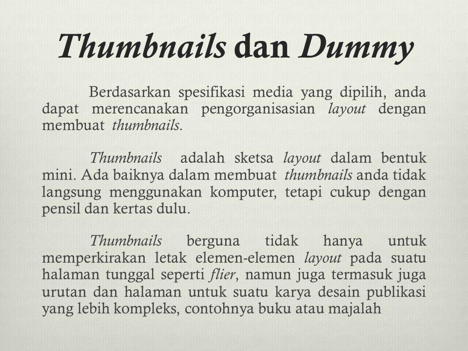 Thumbnails dan Dummy