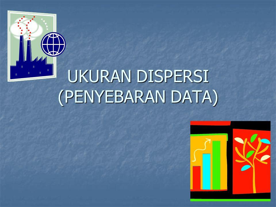 UKURAN DISPERSI (PENYEBARAN DATA)