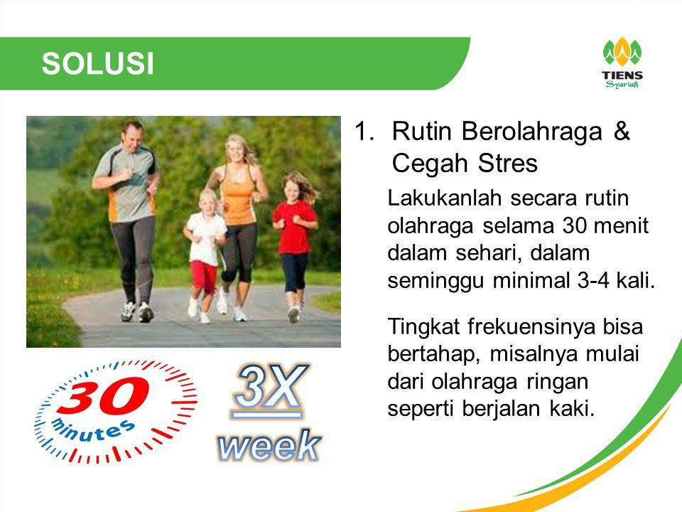 3X week SOLUSI Rutin Berolahraga & Cegah Stres