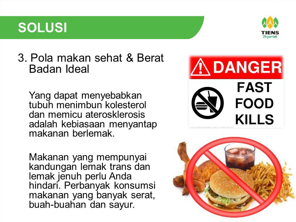 SOLUSI 3. Pola makan sehat & Berat Badan Ideal