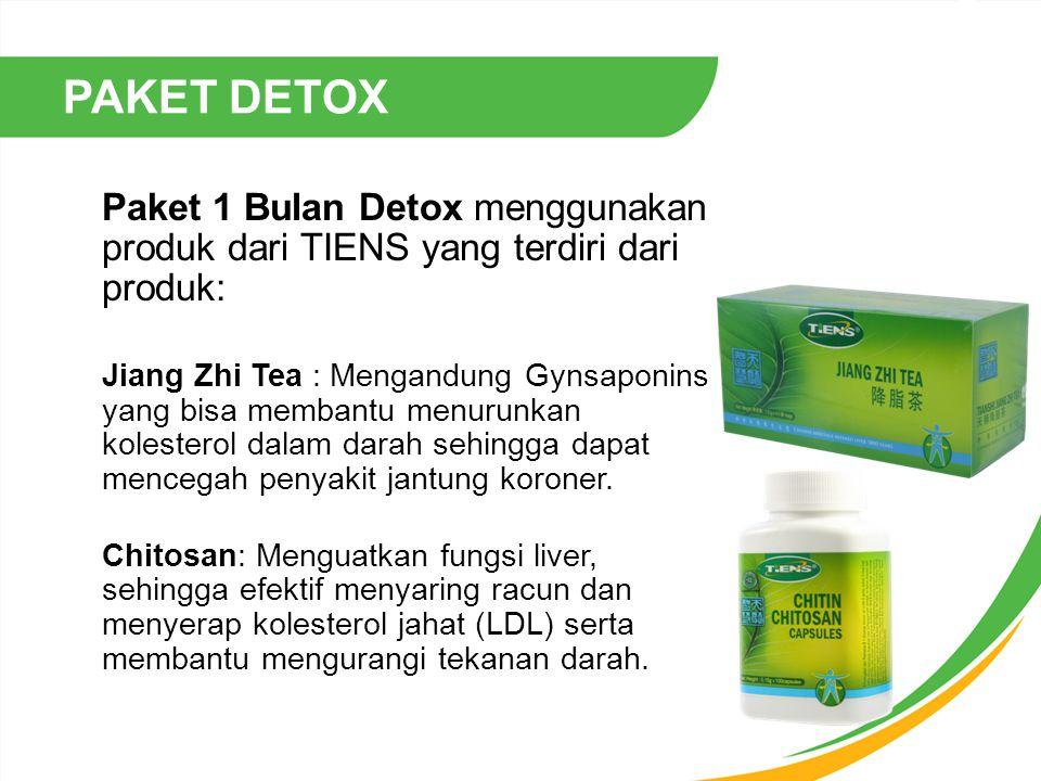 PAKET DETOX Paket 1 Bulan Detox menggunakan produk dari TIENS yang terdiri dari produk: