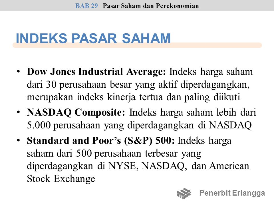 BAB 29 Pasar Saham dan Perekonomian