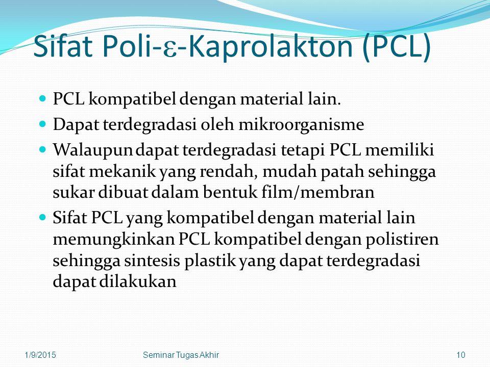 Sifat Poli-ε-Kaprolakton (PCL)