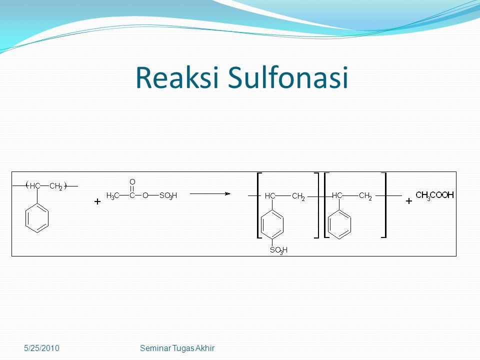 Reaksi Sulfonasi 5/25/2010 Seminar Tugas Akhir