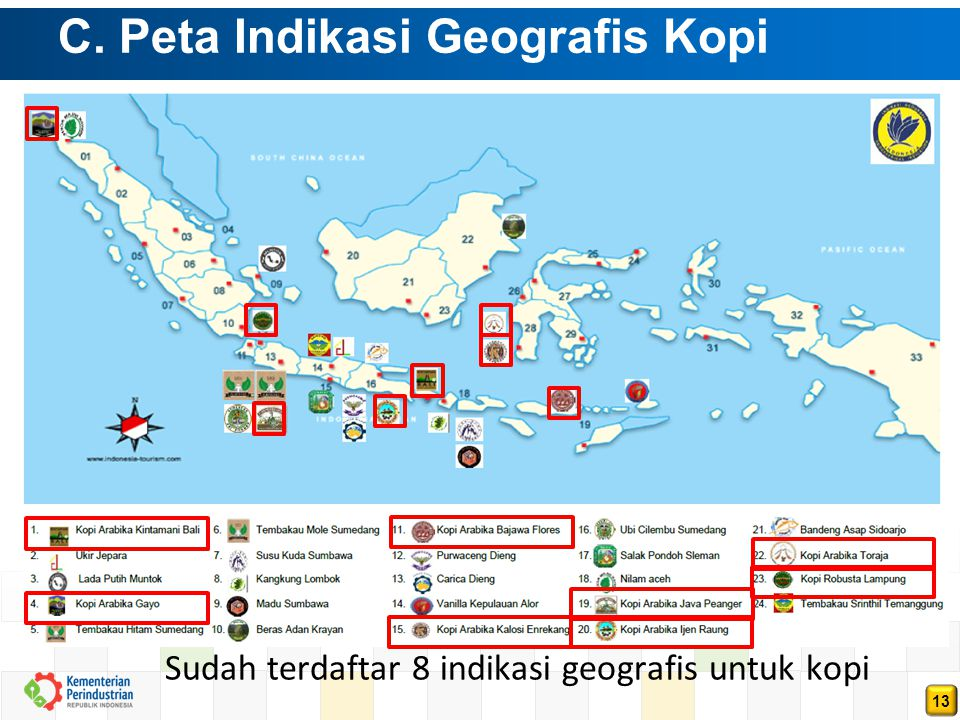 C. Peta Indikasi Geografis Kopi