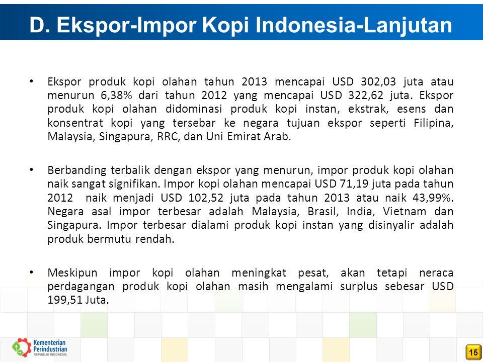 D. Ekspor-Impor Kopi Indonesia-Lanjutan (Lanjutan)