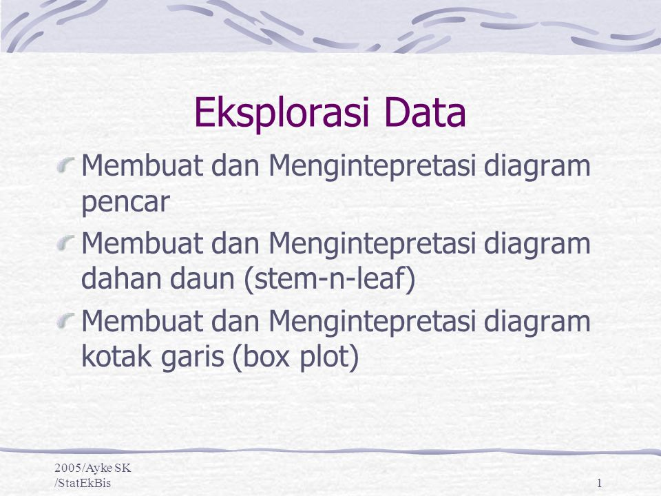 Eksplorasi data membuat dan mengintepretasi diagram pencar ppt eksplorasi data membuat dan mengintepretasi diagram pencar ccuart Choice Image