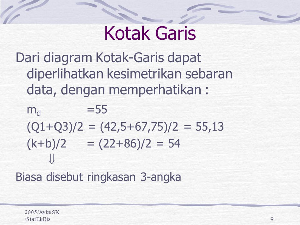 Eksplorasi data membuat dan mengintepretasi diagram pencar ppt 9 kotak garis dari diagram ccuart Choice Image