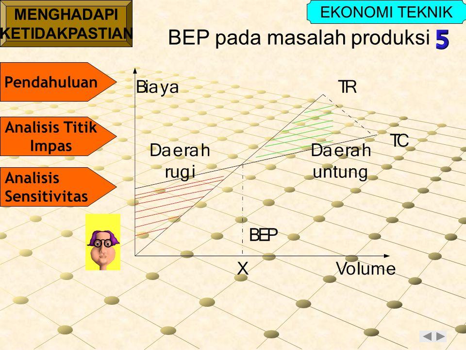 BEP pada masalah produksi