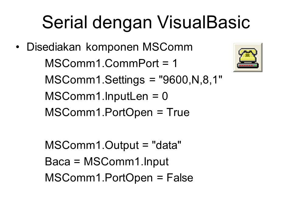 Serial dengan VisualBasic