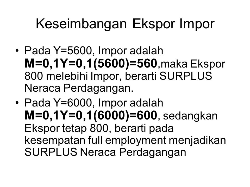 Keseimbangan Ekspor Impor