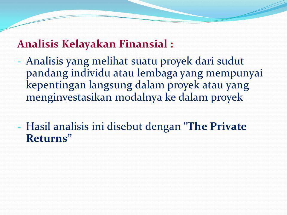 Analisis Finansial VS Analisis Ekonomi