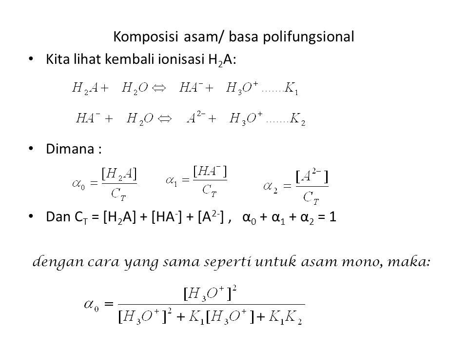 Komposisi asam/ basa polifungsional