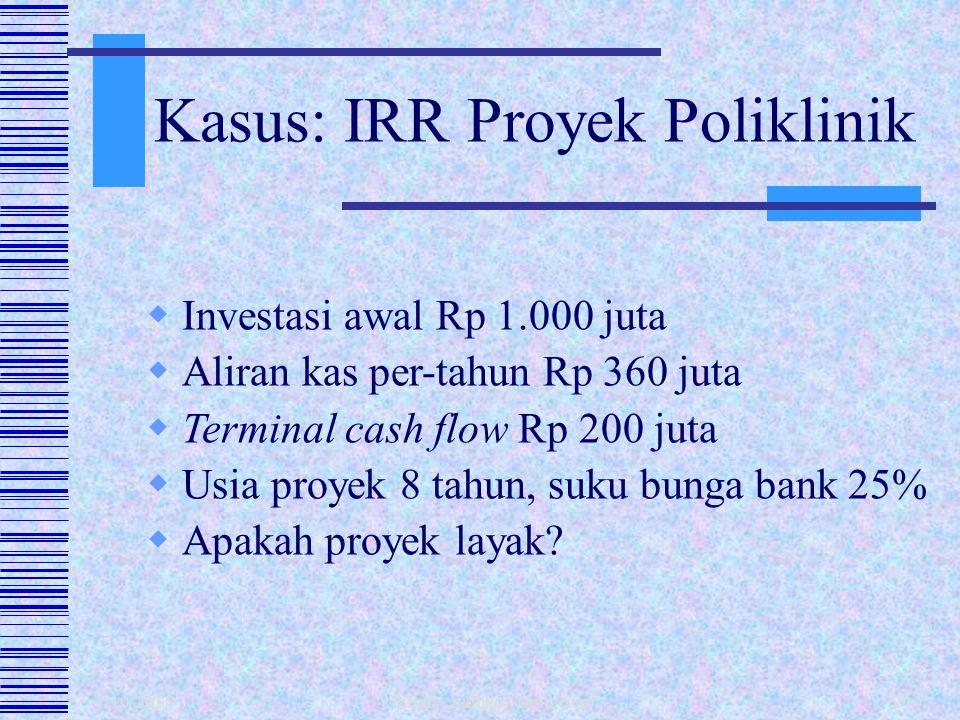 Kasus: IRR Proyek Poliklinik