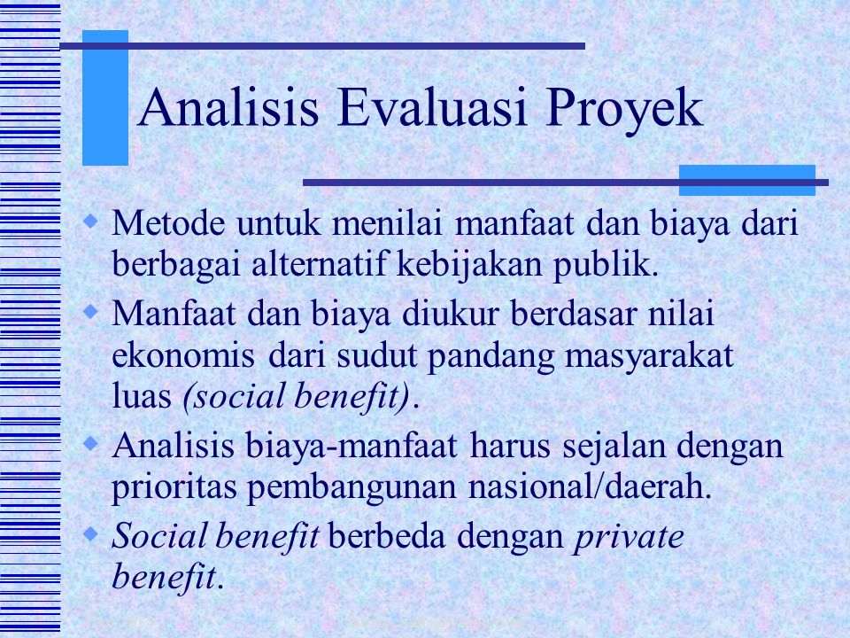 Analisis Evaluasi Proyek