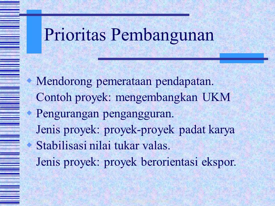 Prioritas Pembangunan