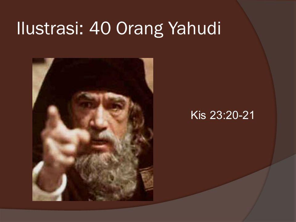 Ilustrasi: 40 Orang Yahudi