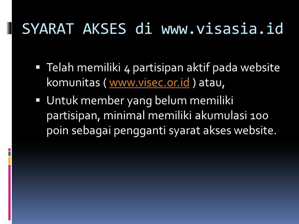 SYARAT AKSES di www.visasia.id