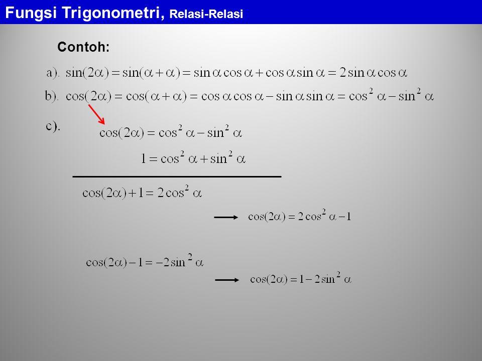 Fungsi Trigonometri, Relasi-Relasi