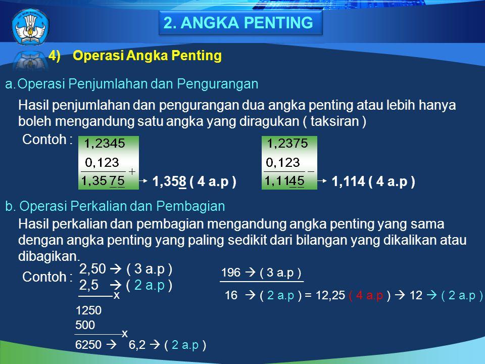 2. ANGKA PENTING Operasi Angka Penting
