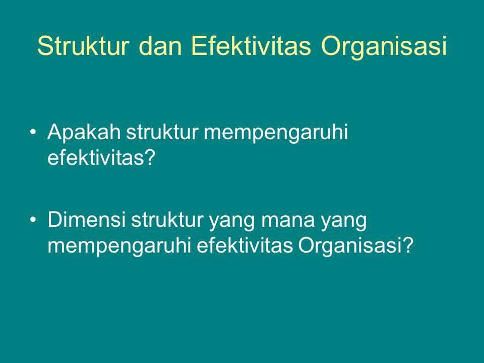 Struktur dan Efektivitas Organisasi