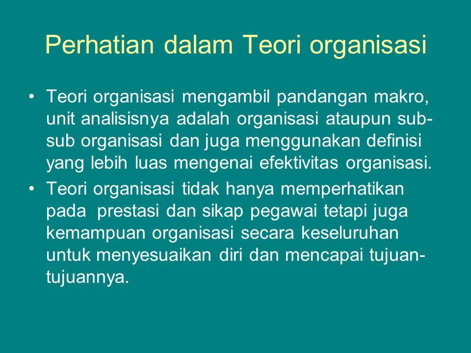 Perhatian dalam Teori organisasi