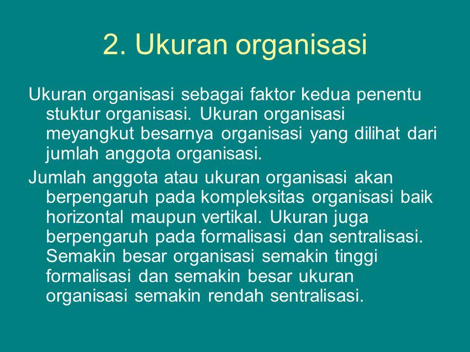 2. Ukuran organisasi