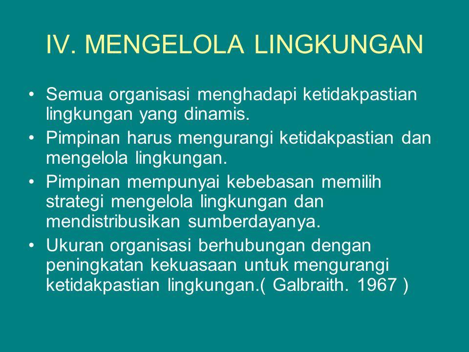 IV. MENGELOLA LINGKUNGAN
