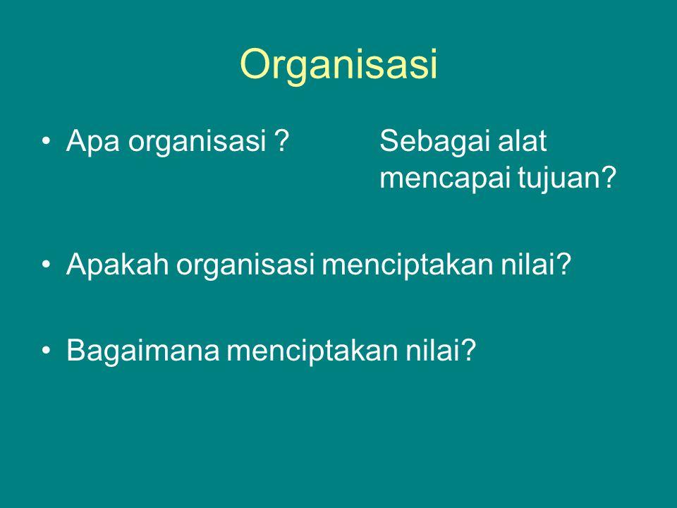 Organisasi Apa organisasi Sebagai alat mencapai tujuan