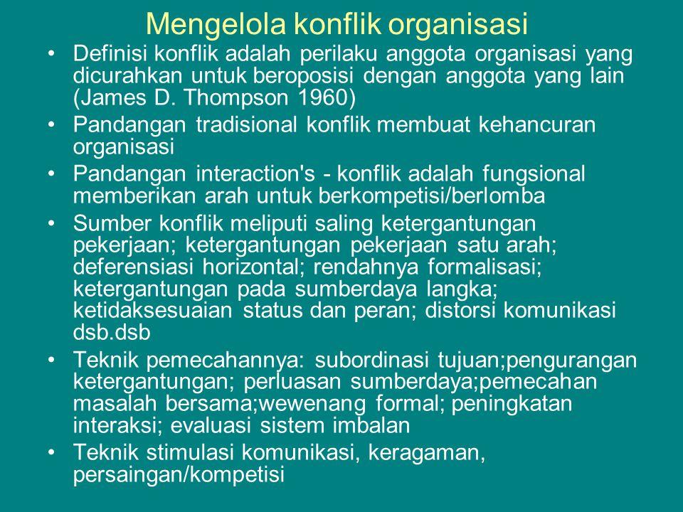 Mengelola konflik organisasi